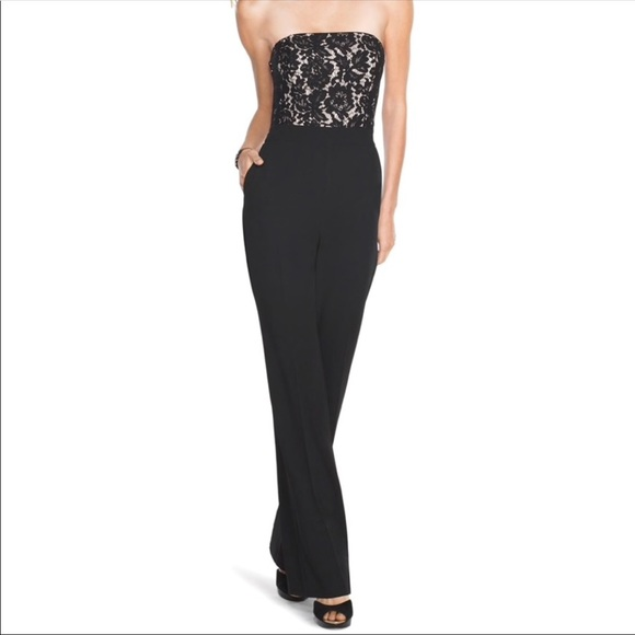 68925015232 NWT WHBM strapless jumpsuit size 6